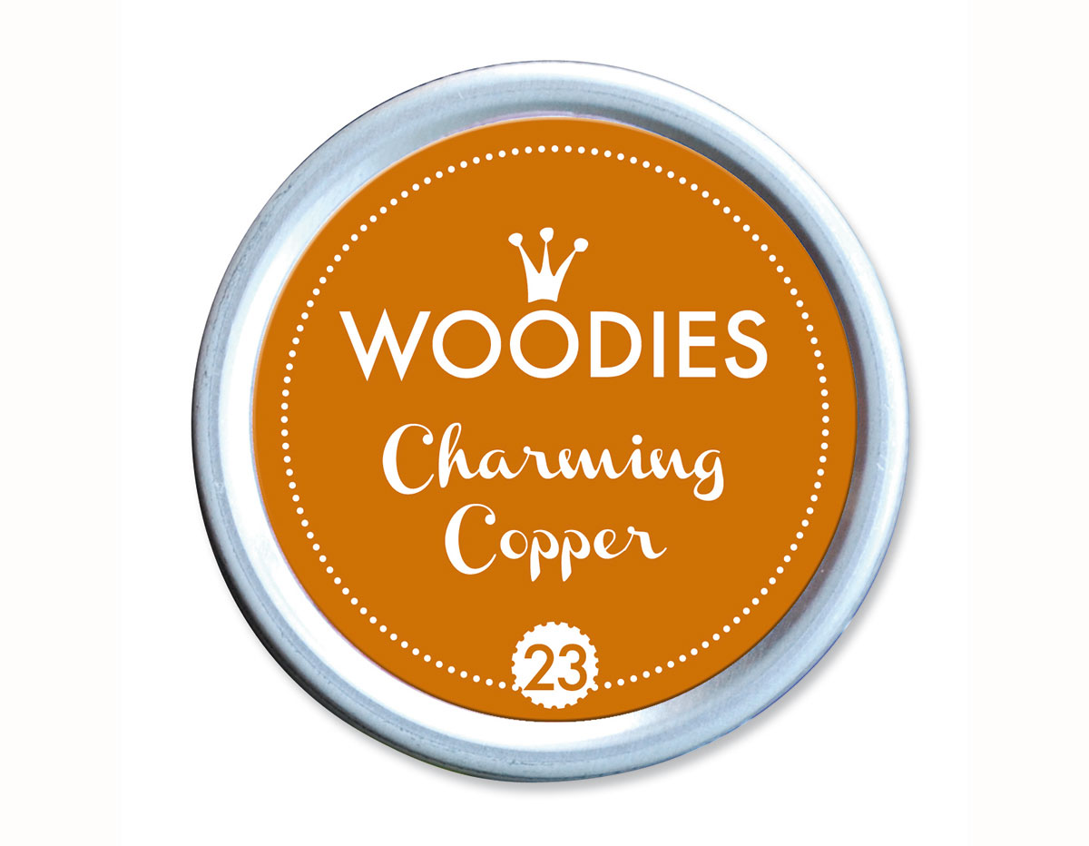 W99023 Almohadilla de tinta Charming Copper diam 38x22mm Woodies