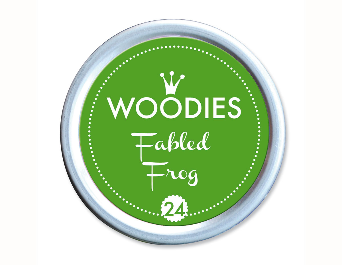 W99024 Almohadilla de tinta Fabled Frog diam 38x22mm Woodies
