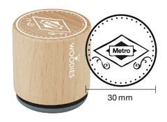 WB1103 Sello de madera y caucho Metro diam 33x30mm Woodies