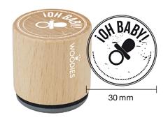 WB6004 Sello de madera y caucho Oh Baby diam 33x30mm Woodies - Ítem