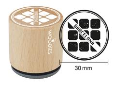 WB9006 Sello de madera y caucho Eixample Barcelona diam 33x30mm Woodies