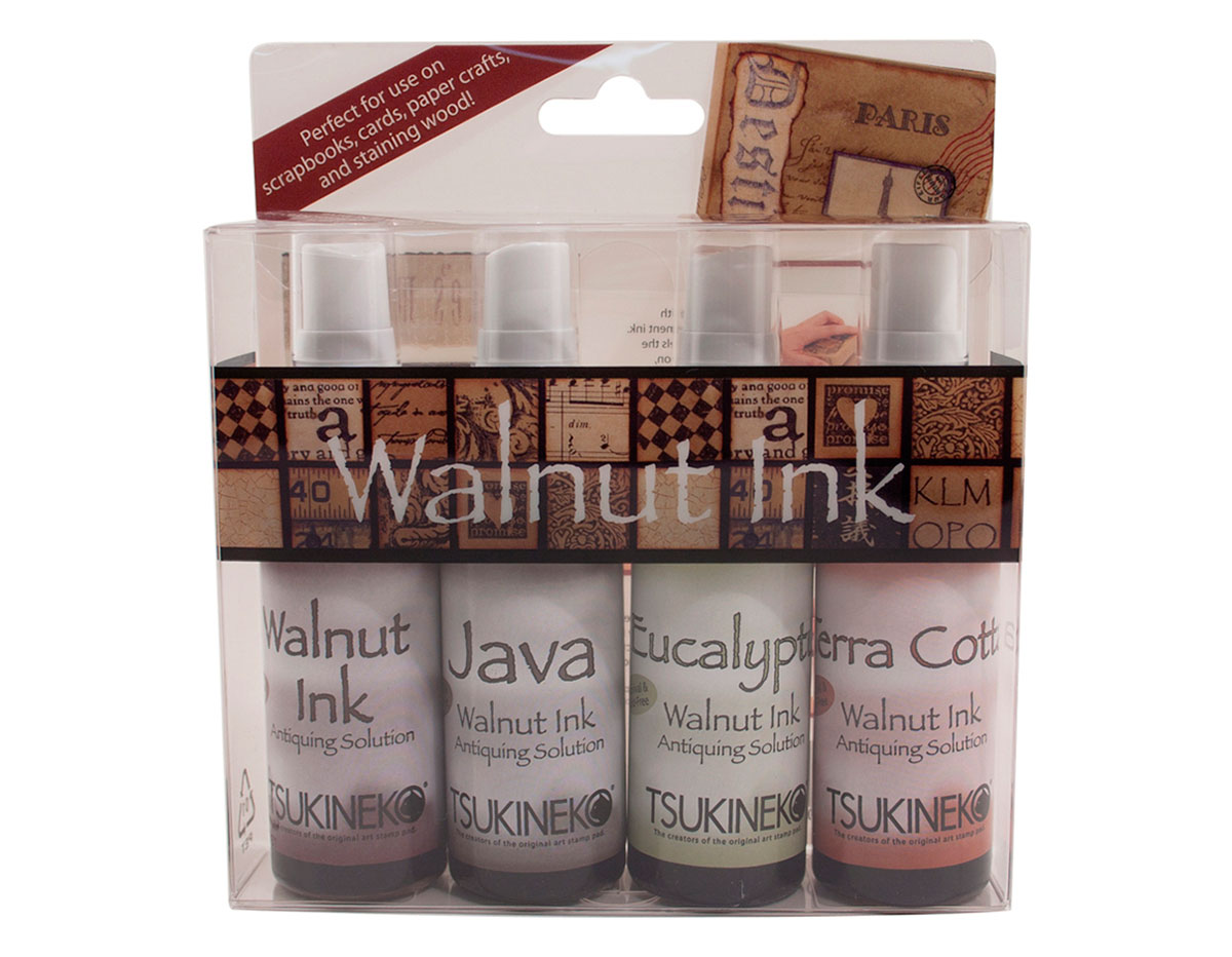 WI-100-004 Set 4 sprays de tinta efecto envejecido sampler I Walnut Ink