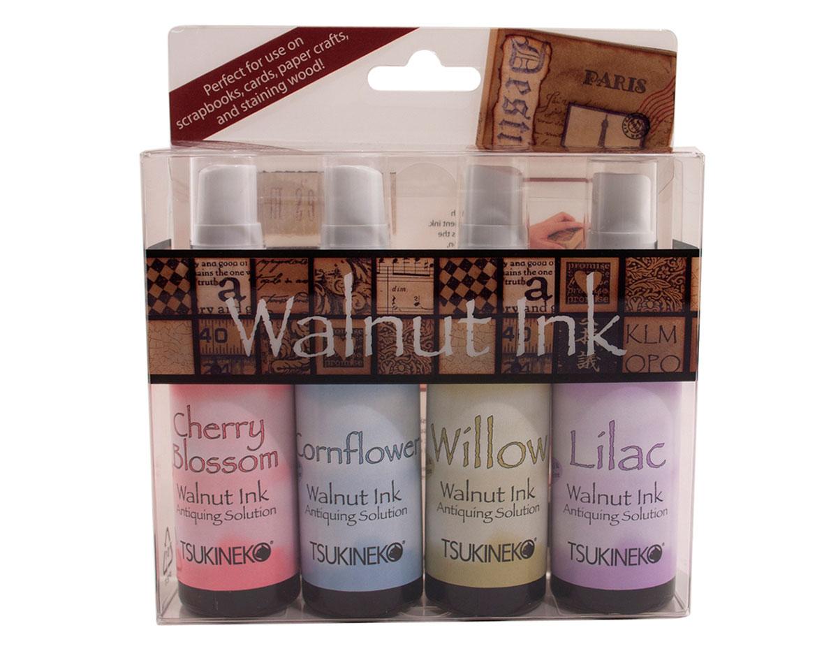 WI-200-004 Set 4 sprays de tinta efecto envejecido sampler II Walnut Ink