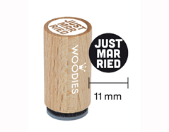 WM0307 Sello mini de madera y caucho Just married diam 15x25mm Woodies