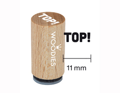 WM0504 Sello mini de madera y caucho Top diam 15x25mm Woodies