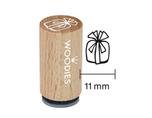 WM1103 Sello mini de madera y caucho regalo diam 15x25mm Woodies