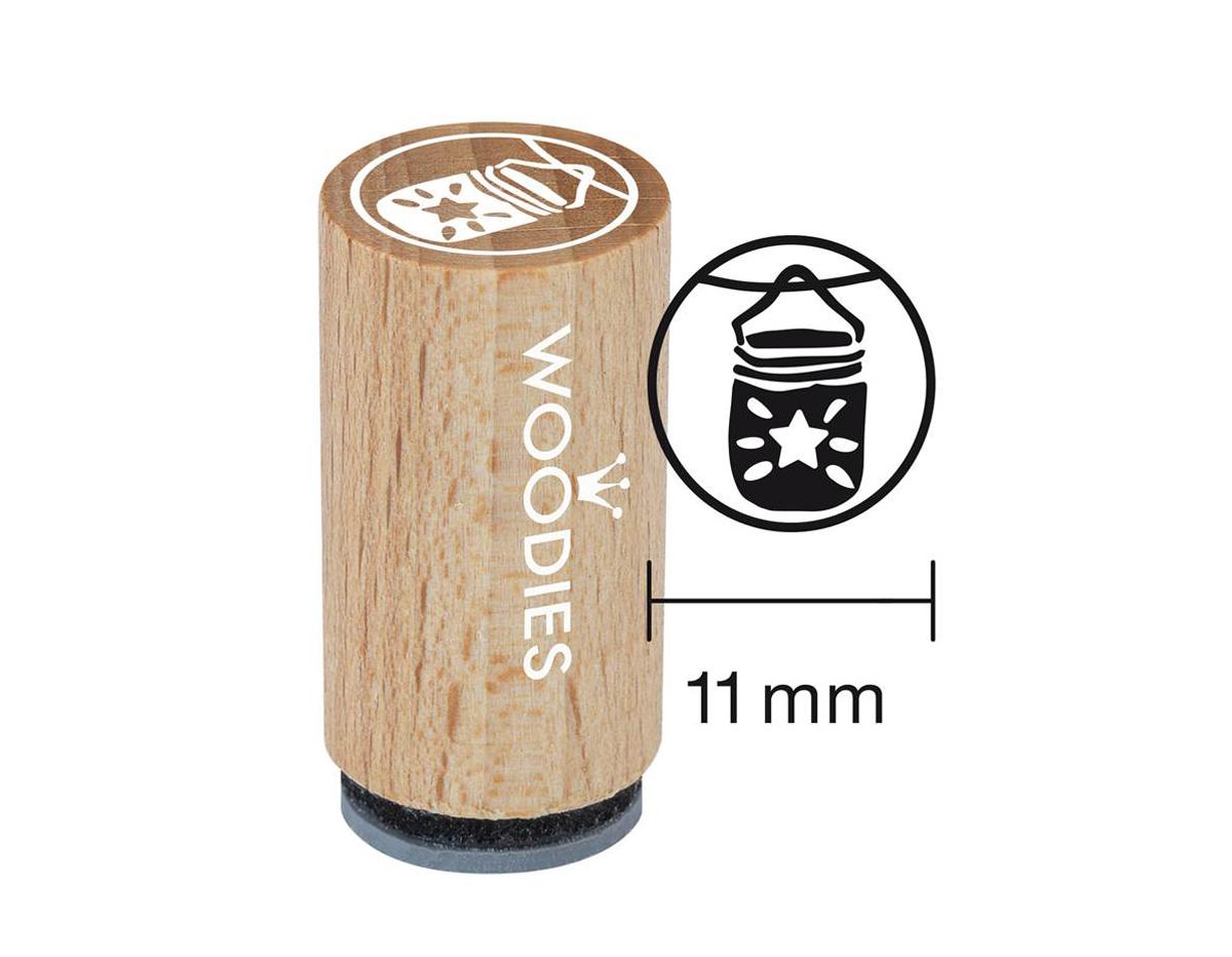 WM1309 Sello mini de madera y caucho farolillo diam 15x25mm Woodies