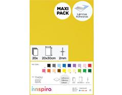Z21934 Goma eva amarillo claro adhesiva 20x30cm 2mm 20u Thou