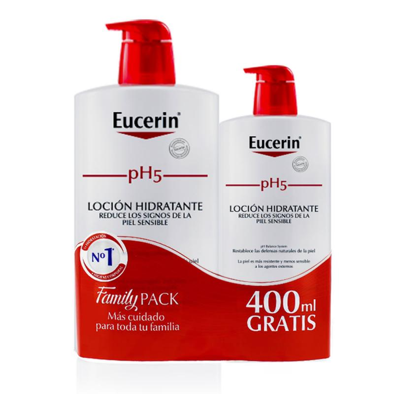 EUCERIN FAMILY PACK PH5 LOCION ENRIQUECIDA 1L+400ML GRATIS