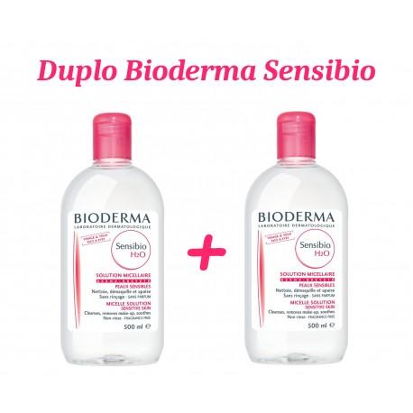 PACK SENSIBIO H2O BIODERMA 500 ML + SENSIBIO 500 ML