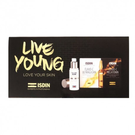ISDIN LIVE YOUNG AGE REPAIR 50ML + MELATONIN 10 AMPOLLAS + ULTRAGLICAN 10 AMPOLLAS