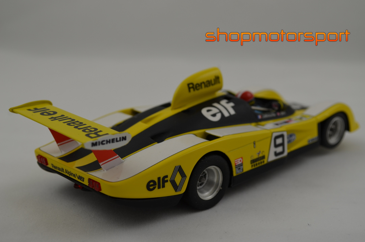 alpine renault a442 le mans miniatures lm 132077b jean pierre jabouille derek bell. Black Bedroom Furniture Sets. Home Design Ideas