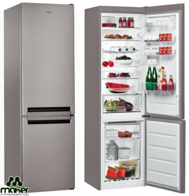 FRIGORÍFICO COMBI NO-FROST A++ WHIRLPOOL BSNF8152OX