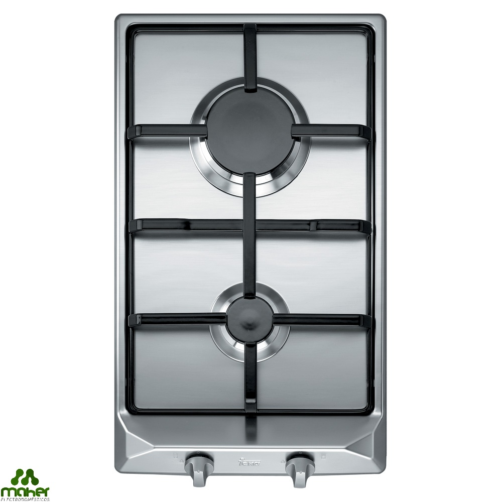 PLACA 2 fuegos INOX GAS NATURAL TEKA EM/30 2G AL NAT