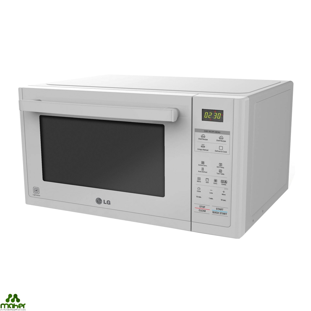 HORNO MICROONDAS 32 litros CONVECCION BLANCO LG MJ3294BDW