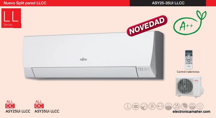 Aire Acondicionado Inverter A 2150 Frig 2752 Kcal Fujitsu Asy25uillcc