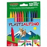 CERAS PLASTICAS PLASTIALPINO - ESTUCHE 12 UNIDADES SURTIDAS - ALPINO
