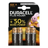 PACK DE 4 PILAS DURACELL PLUS POWER - LR6 - 1.5V - ALCALINA AA