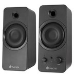 ALTAVOCES GAMING 2.0 NGS GSX-200 - 20W RMS - SUPERGRAVES - JACK 3.5MM PARA AURICULAR - 150HZ-18KHZ - USB - NEGRO MATE
