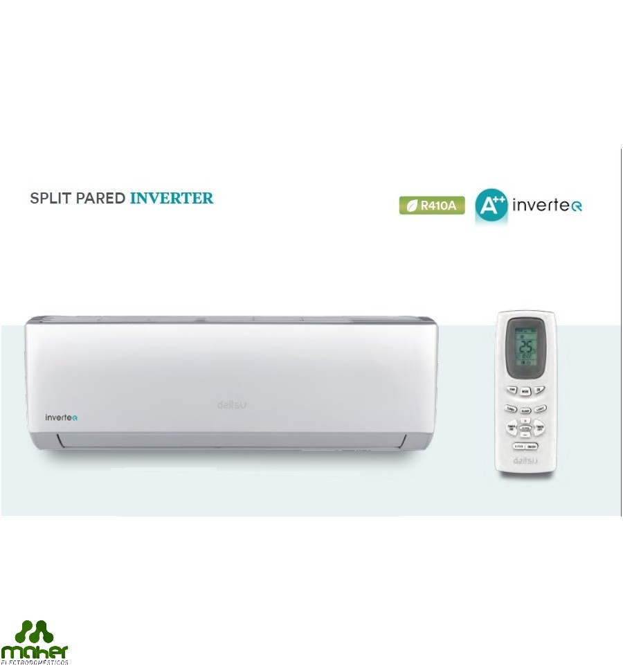 Aire acondicionado 3096 3268 f c inverter a daitsu for Bomba de calor inverter
