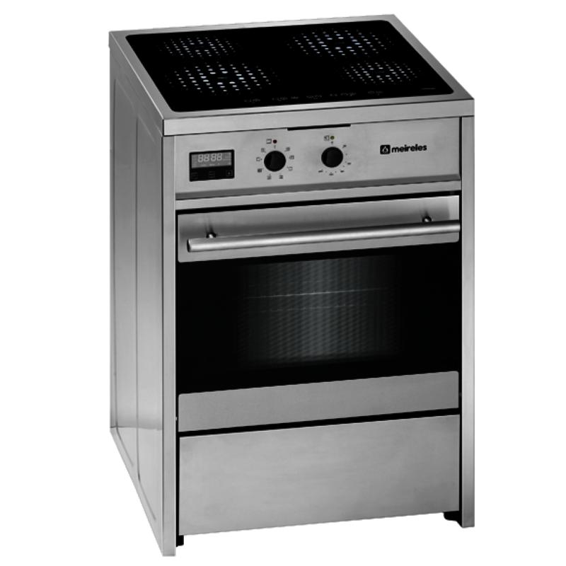 Cocina Con Vitroceramica Y Horno | Cocina Electrica Vitroceramica Inox Meireles E612x