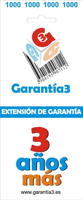 EXTENSION DE GARANTIA 3 AÑOS LIMITE MAXIMO 1000 EUROS