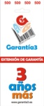 EXTENSION DE GARANTIA 3 AÑOS LIMITE MAXIMO 500 EUROS