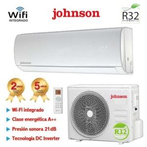 AIRE ACONDICIONADO SPLIT INVERTER GAS R32 3010 Frig. Y 3277 Kcal. JOHNSON JT35K