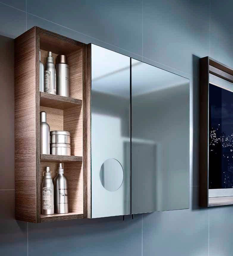 Armario espejo ba o y espejo aumento luna ba o decoraci n - Armario de bano con espejo y luz ...