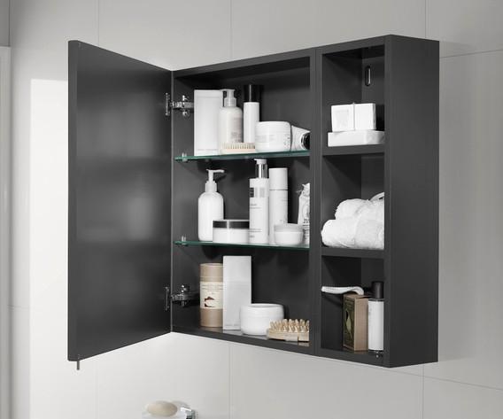 Armario ba o espejo luna estantes roca ba o decoraci n - Espejo con armario bano ...