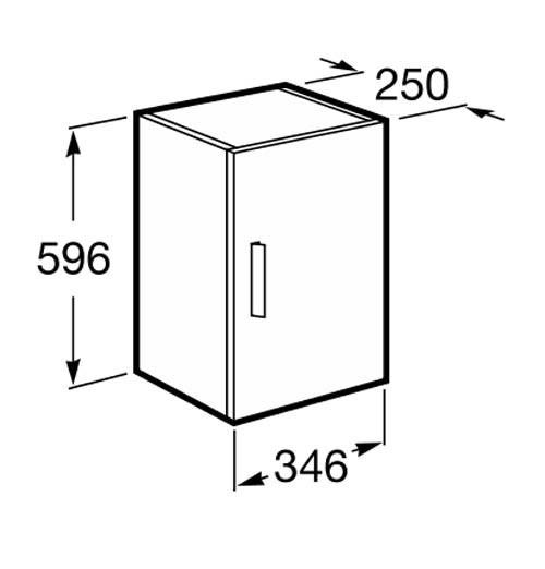 Muebles Baño Medidas Reducidas:Mueble de baño Roca Unik Debba 2 puertas fondo reducido