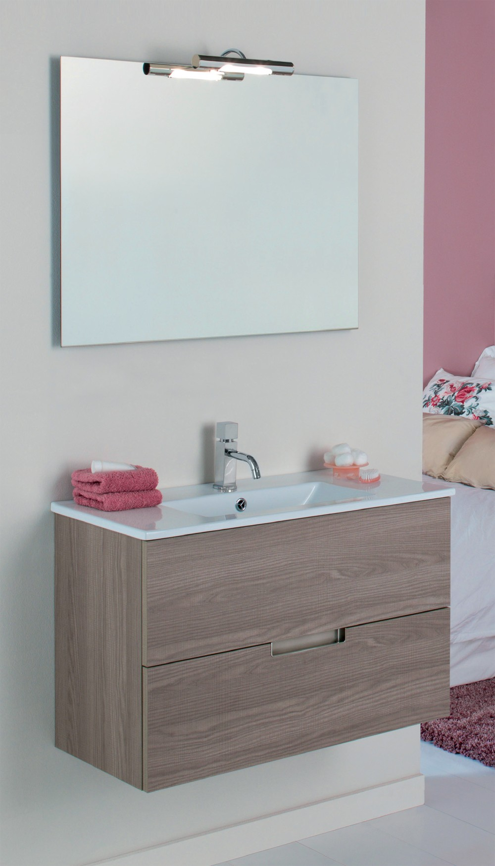 Mueble de ba o vora mader for Conjunto sanitarios bano