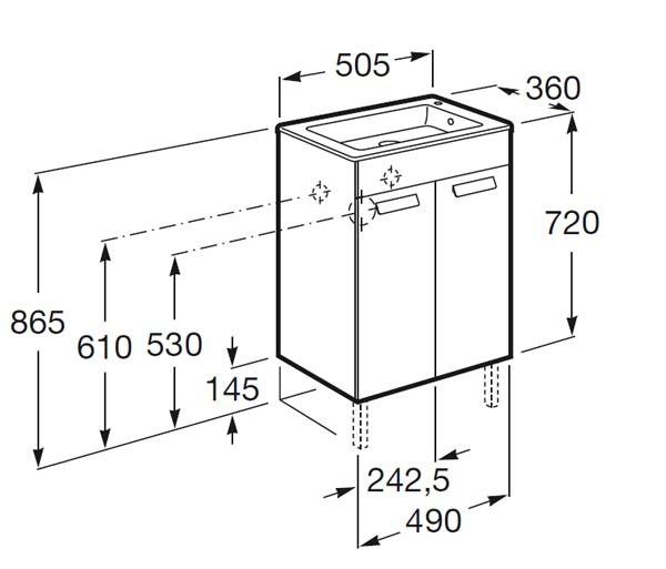mueble de baño fondo reducido - Ítem8