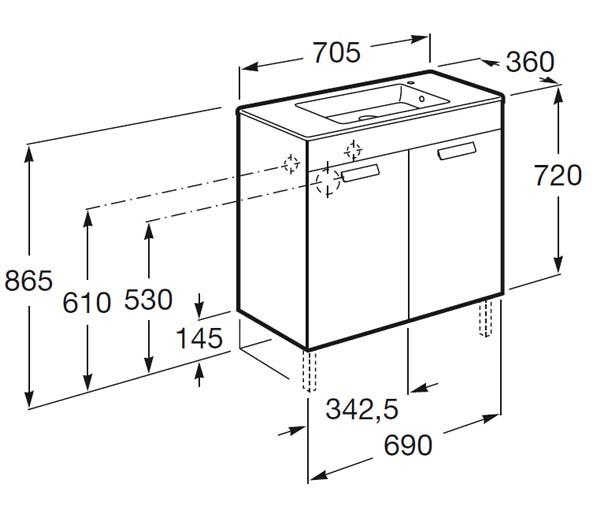 mueble de baño fondo reducido - Ítem10
