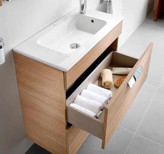 Muebles Baño Medidas Reducidas:Mueble de baño Roca Unik Debba 2 cajones – Baños Roca