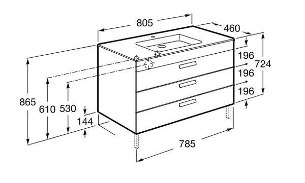 unik debba standard roca mueble de ba o roca ba o decoraci n. Black Bedroom Furniture Sets. Home Design Ideas