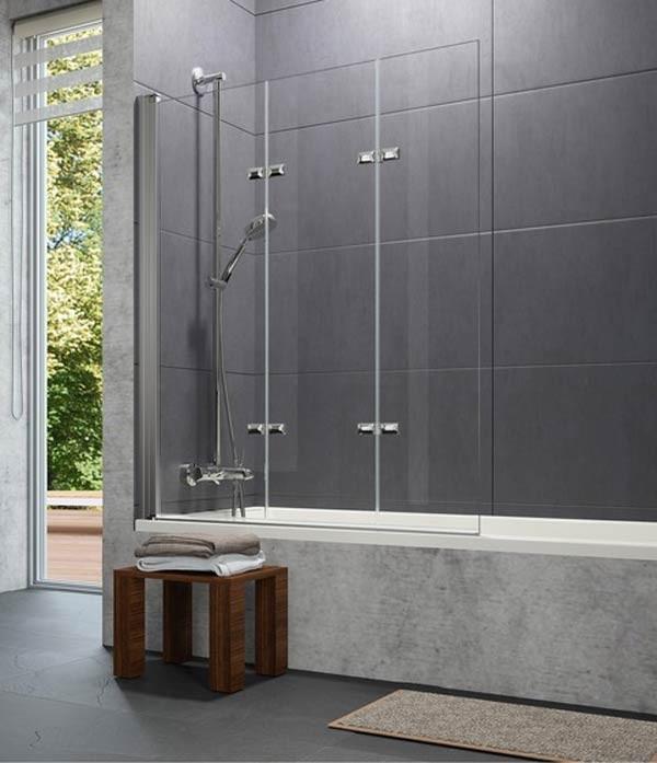 Mampara design 3 hojas plegables h ppe ba o decoraci n - Baneras plegables para duchas ...