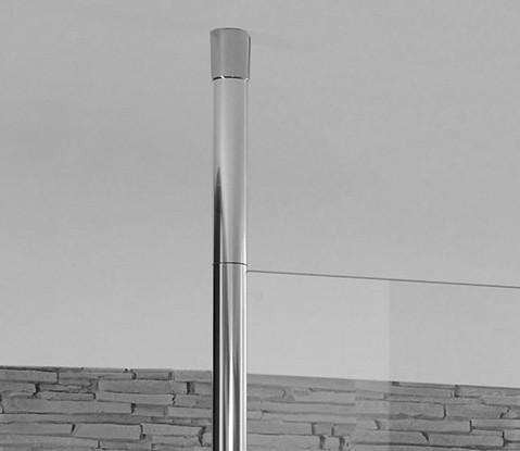 Mampara fija con barra a techo de Hüppe - Ítem1