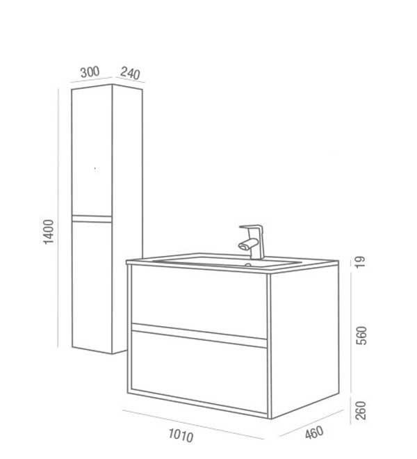 Lavabo y mueble Noja de Salgar - Ítem9