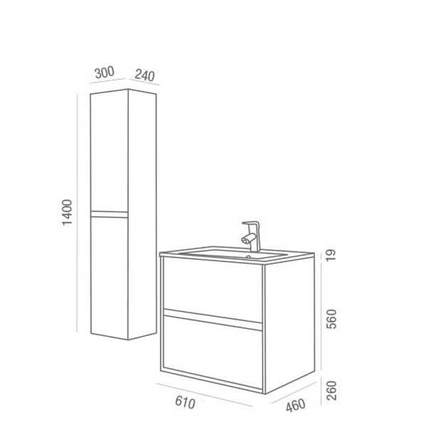 Lavabo y mueble Noja de Salgar - Ítem5