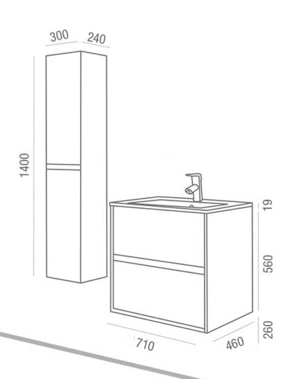 Lavabo y mueble Noja de Salgar - Ítem6