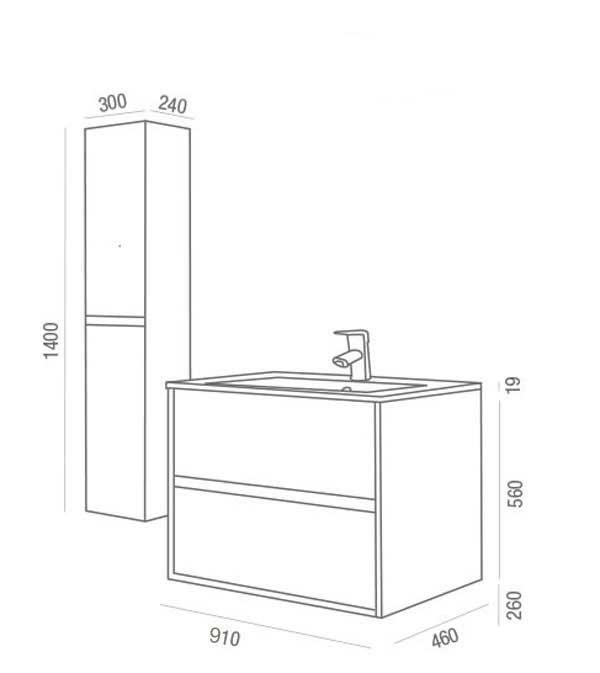 Noja Salgar - Mueble de baño - Ítem8