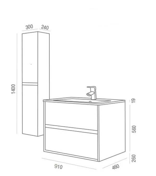 Lavabo y mueble Noja de Salgar - Ítem8
