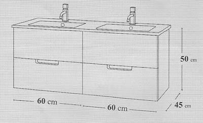 Mueble de baño y lavabo Evora 120 cm de Madero - Ítem3