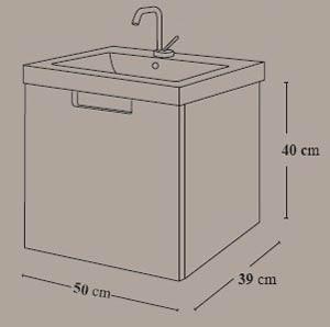 Mueble de baño Évora de 500 mm - Ítem3