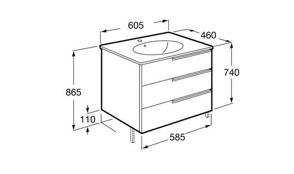 Mueble de baño Unik Victoria-N Family - Ítem5
