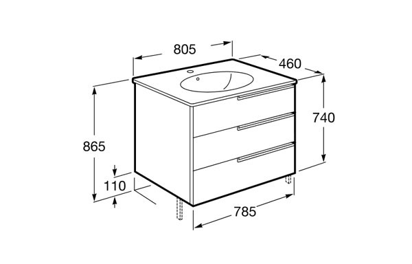 Mueble de baño Unik Victoria-N Family - Ítem6