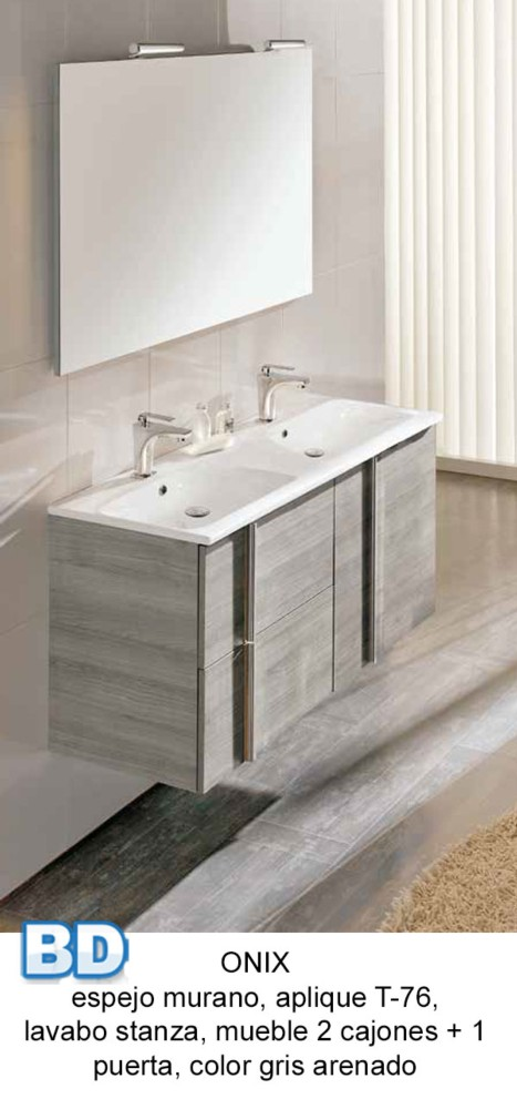 Mueble Baño Gris Arenado:Mueble Baño Columna de baño Onix