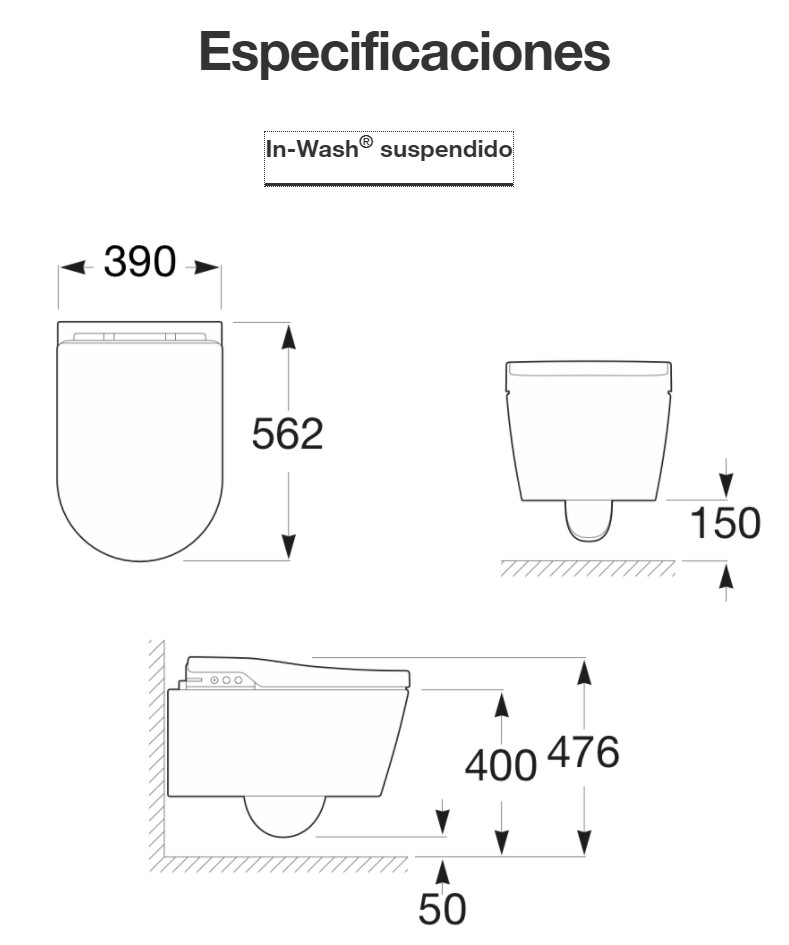 In-wash Inspira suspendido de Roca - Ítem4