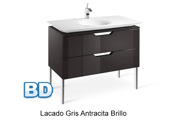 Mueble Baño Gris Brillo ~ Dikidu.com